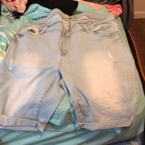 I'm selling shorts and a button down shirt.